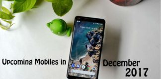 upcoming mobiles in december 2017